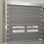 Porta ràpida Foldsystem en acer galvanitzat.